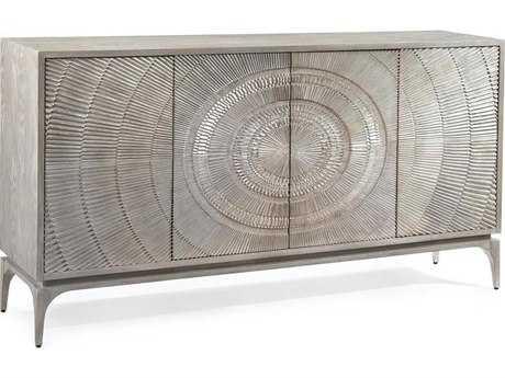 John Richard Cosmos Silver-White 81'' x 18.25'' Four-Door Cabinet JREUR040423