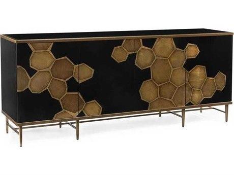 John Richard Mark McDowell Honeycomb Black Four-Door 84'' x 20.25'' Credenza JREUR040449