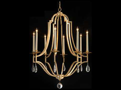 John Richard Gold Leaf Crystal Chandelier JRAJC8877