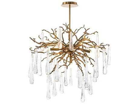 John Richard Branch Brass Seven-Light 32'' Wide Chandelier JRAJC8981