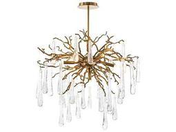 Branch Brass Seven-Light 32'' Wide Chandelier
