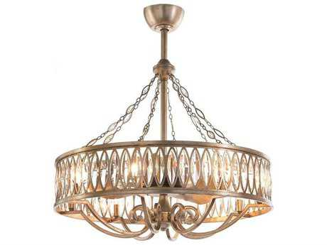 John Richard Faceted Marquise Crystal Eight-Light 33'' Wide Chandelier JRAJC8999