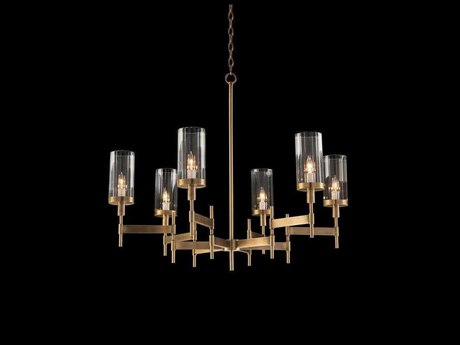 John Richard Mark Mcdowell Brass 37'' Wide Glass Medium Chandelier