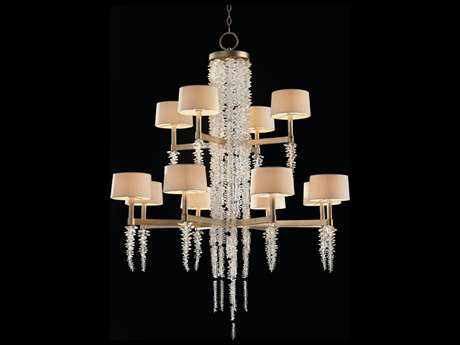 John Richard Cascading Crystal Waterfall Twelve Light Grand Chandelier