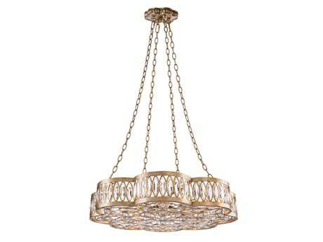 John Richard Diamante Eight-Light 31'' Wide Pendant Light