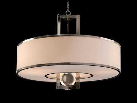 John Richard Crystal Sphere Polished Nickel Three-Light 40'' Wide Pendant Light JRAJC8910