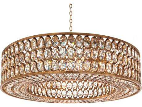 John Richard Stately Gold-Leaf 40.25'' Wide Pendant Light