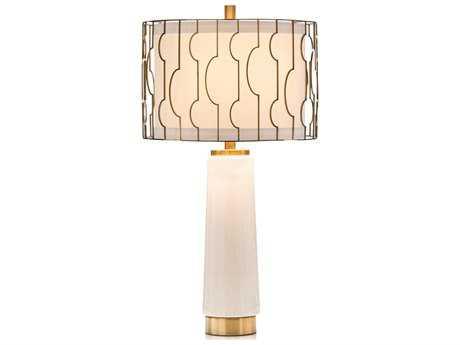 John Richard Antique Brass Shade Encasing 15'' Wide Buffet/Table Lamp JRJRL9445