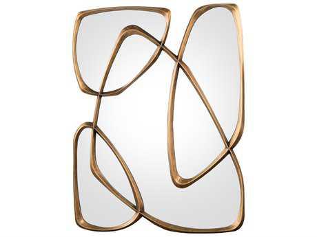 John Richard Zeta Mayan Bronze Frame 41'' x 53.5'' Wall Mirror JRJRM0833