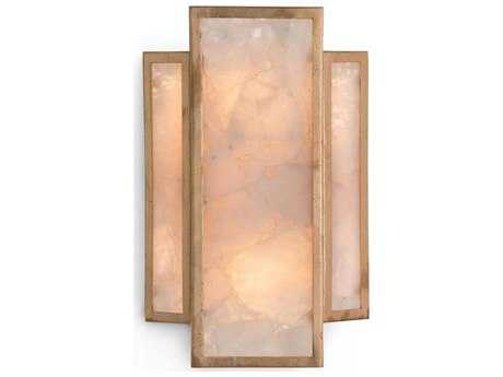 John Richard Calcite Gold-Leaf Two-Light 10'' Wide Wall Sconce JRAJC8987