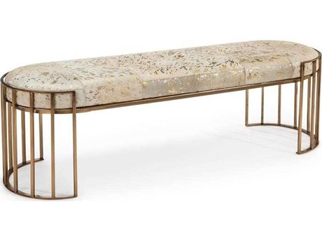 John Richard Hair On Hide Bench