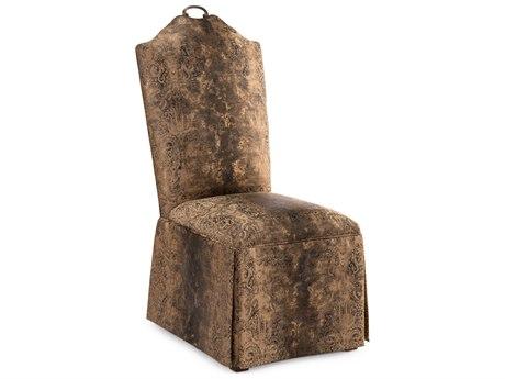 John Richard Brass Handle Penelope Skirt Side Chair JRAMF1140BHF554AS