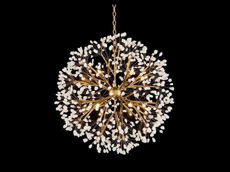 John Richard Spherical 12-Light Quartz Crystal Pendant JRAJC9082