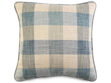 John Richard Pillow Plaid Blue JRAMP2116B