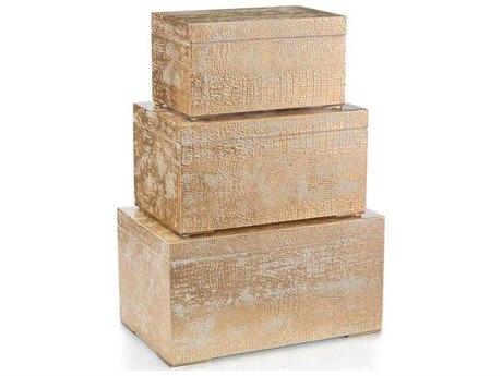 John Richard Set Of Three Abstract Alligator Boxes JRJRA10971S3