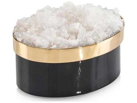 John Richard Petite Oval Black & Gold Quartz Box JRJRA10972