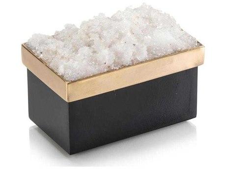 John Richard Petite Rectangular Black & Gold Quartz Box JRJRA10973