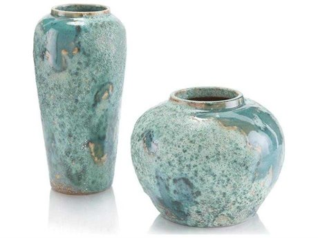 John Richard Set Of Two Sea Foam Vases JRJRA10838S2