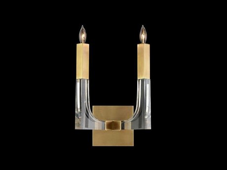 John Richard Acrylic And Brass Double Light Sconce JRAJC9038