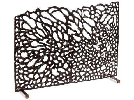John Richard Organic Fire Screen In Bronze Decorative Accent JRJRA10014