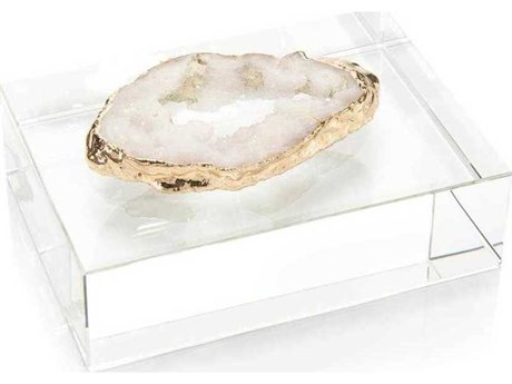 John Richard White Geode on Crystal Decorative Accent JRJRA10597