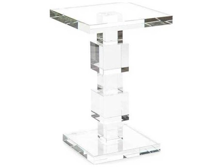 John Richard Crystal 12'' Square Martini Table
