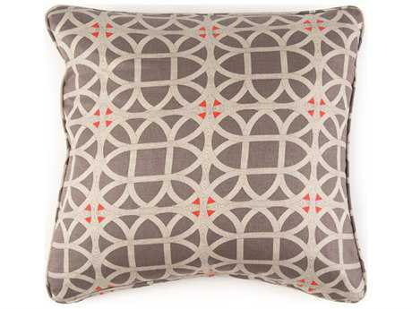 John Richard 22'' X 22'' Geometric Taupe Pillow JRAMP2030B