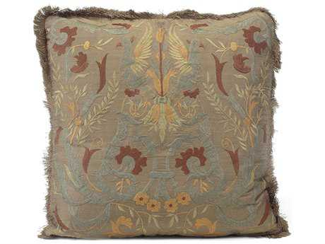 John Richard 22'' X 22'' Caramel Silk Embroidered Pillow JRJRS033197
