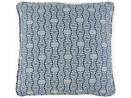 John Richard 20'' X 20'' Geometric Blue Pillow JRAMP2021A