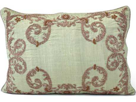 John Richard 16'' X 24'' Pillar Caledon Green Silk Pillow JRJRS033056