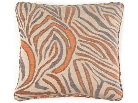 John Richard 22'' X 22'' Animal Print Orange Pillow JRAMP2008B
