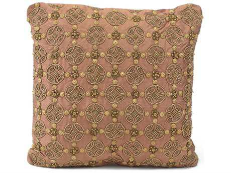 John Richard 18'' X 18'' Rose Silk All Over Design Pillow JRJRS033194