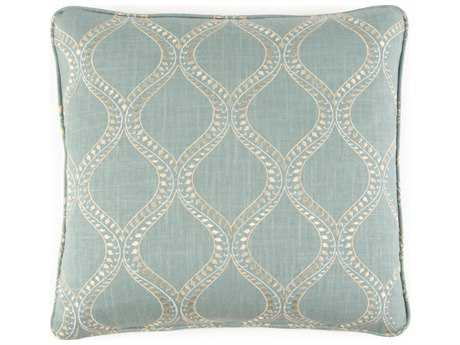 John Richard 22'' X 22'' Geometric Blue Pillow JRAMP2007B