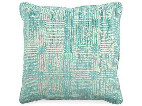 John Richard Abstract Blue Green 22 Pillow JRAMP2054B