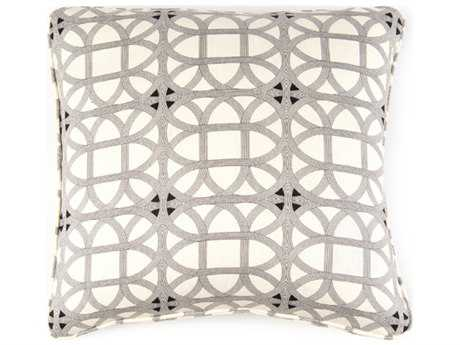 John Richard 22'' X 22'' Geometric Black Pillow JRAMP2029B