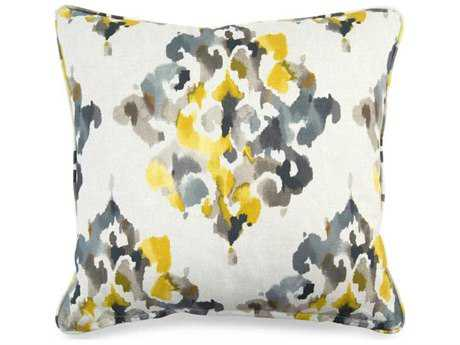 John Richard 20'' x 20'' Square Floral Grey & Yellow Pillow JRAMP2038A