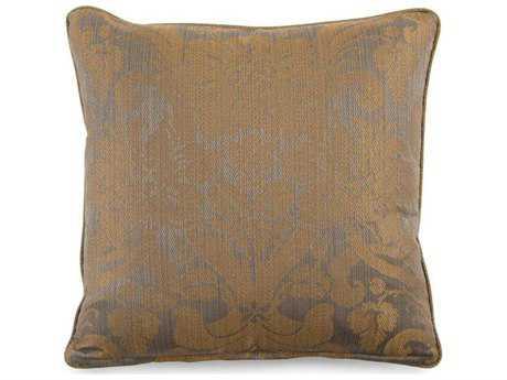 John Richard 20'' x 20'' Square Damask Grey Pillow