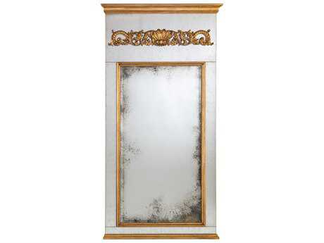 John Richard Harlington Distressed Gold Frame 52'' x 94.5'' Large Rectangular Wall Mirror JRJRM0856