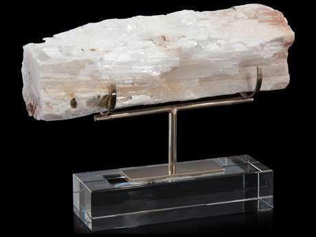 John Richard Gallery Displayed Selenite Log Sculpture