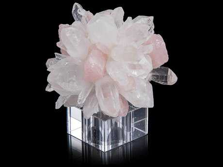 John Richard Rock Quartz Points With Rose Quartz Sculpture