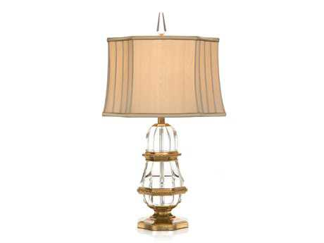 John Richard Lamps Hand-finished Crystal Glass Table Lamp