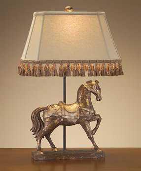 John Richard Lamps Distressed Gilded Table Lamp