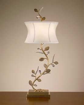 John Richard Branch Brass Table Lamp (Right)