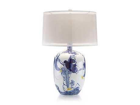 John Richard Gardens Blue Asian Table Lamp JRJRL8854
