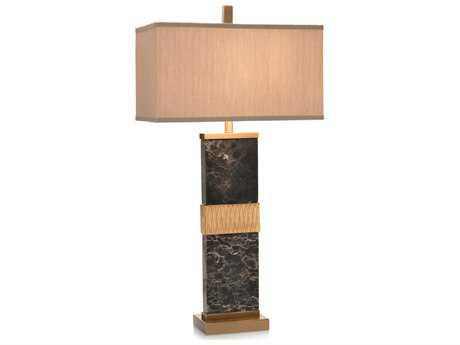 John Richard Black Marble Column One-Bulb Table Lamp JRJRL9163