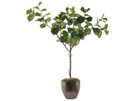 John Richard Manufactured Tree Trunk Fiddle Leaf Fig A Decorative Tree