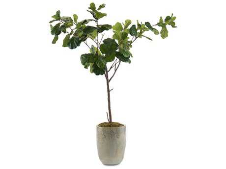 John Richard Manufactured Tree Trunk Fiddle Leaf Fig B Decorative Tree