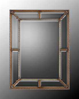 John Richard Beveled Center with Mirrors Surrounding Wall Mirror JRJRM0383
