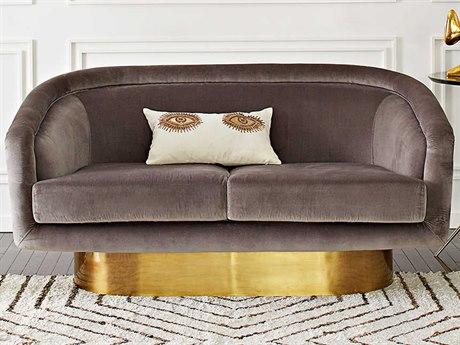 Jonathan Adler Bacharach Rialto Ash Loveseat Sofa