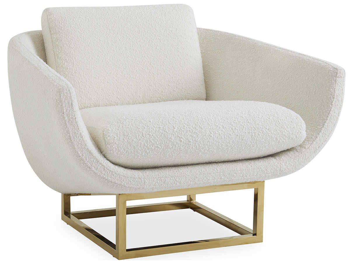 Jonathan Adler Beaumont Olympus Ivory Accent Chair Jon27701